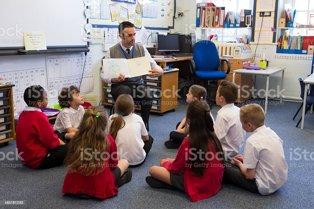 Story Time in a Classroom royalty-free stock photo