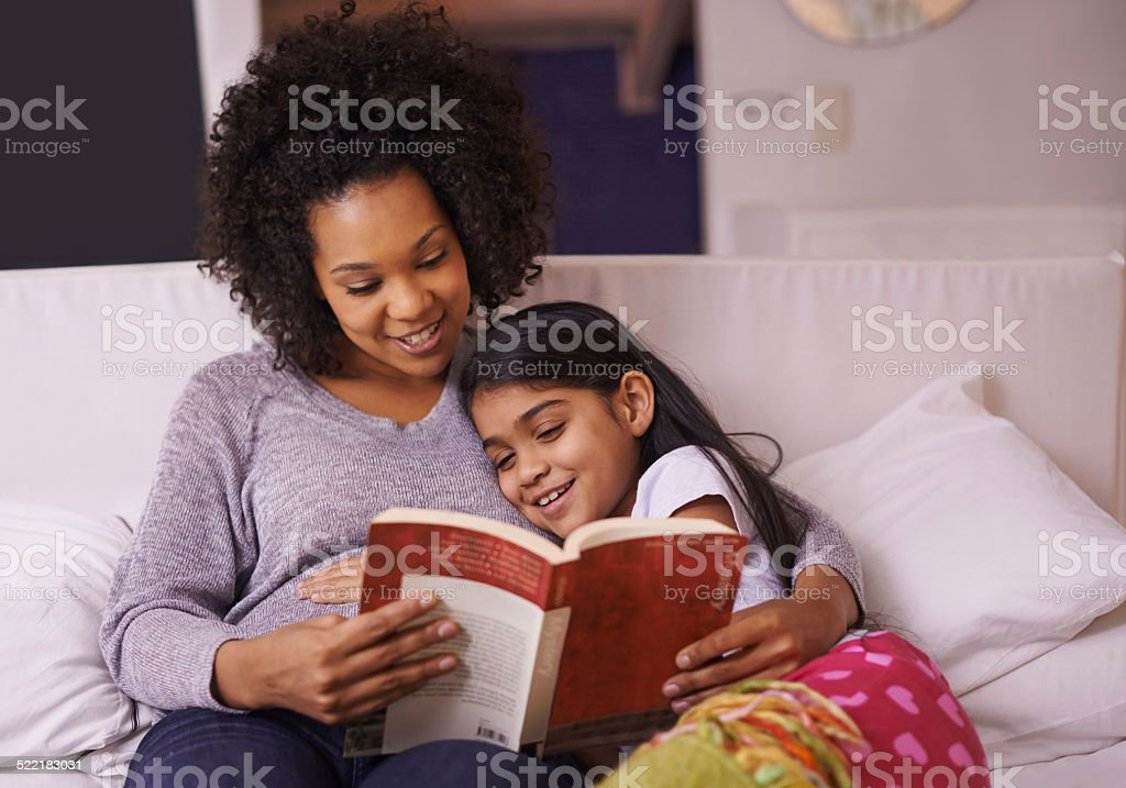 Story time! stock photo