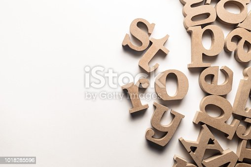 1018285596 istock photo Story Wood Letters 1018285596