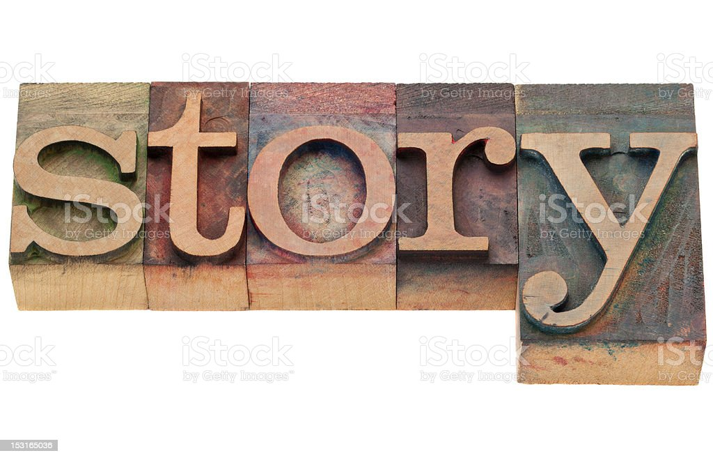 story word in letterpress type royalty-free stock photo