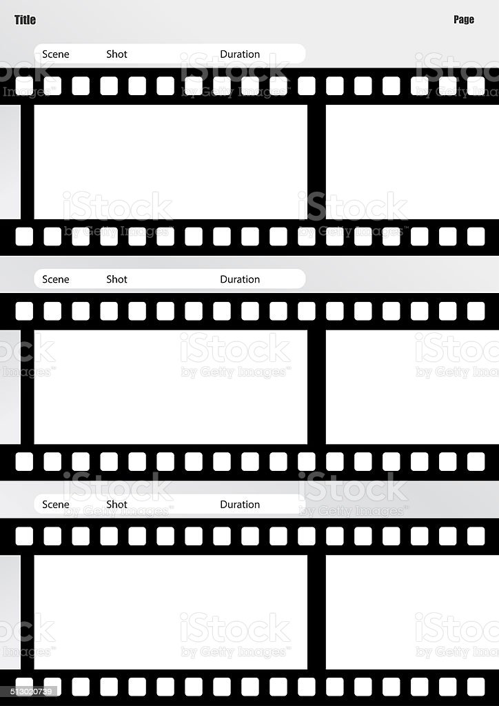 storyboard film template vertical stock photo