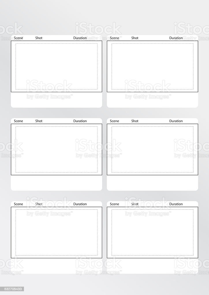 Storyboard Template Vertical X6 Stock Photo & More Pictures of 2015 ...