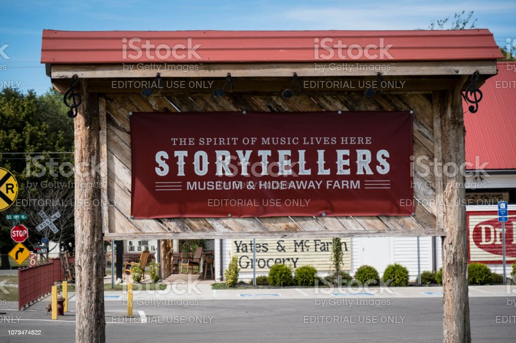 Storytellers Museum & Hideaway Farm stock photo