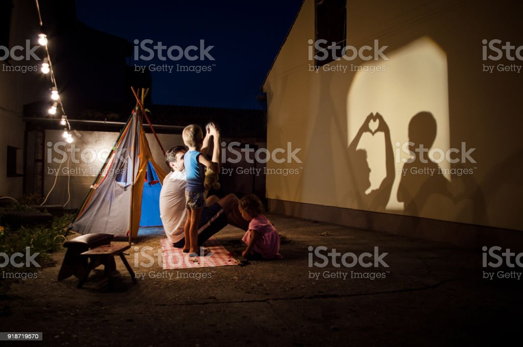 Storytelling in our backyard stock photo