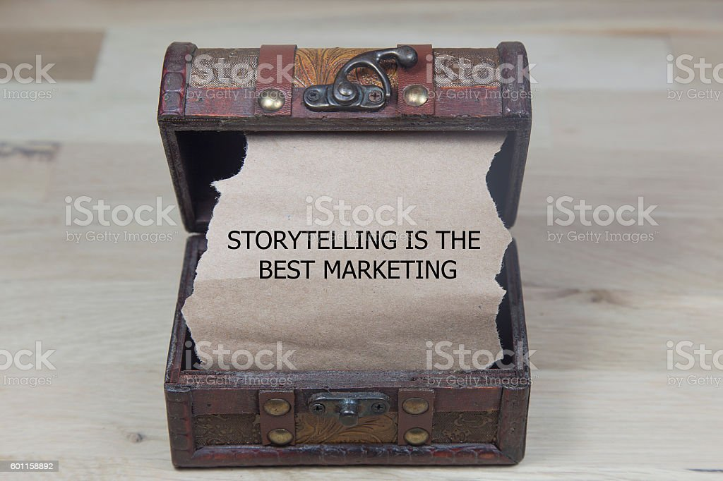 Storytelling is the best Marketing stock photo