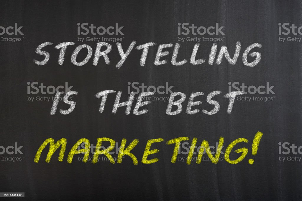 Storytelling Is The Best Marketing Stock Photo - Download