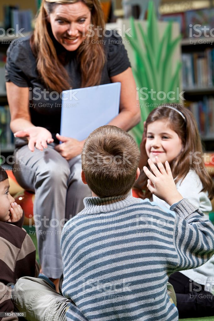 Storytime in the library royalty-free stock photo