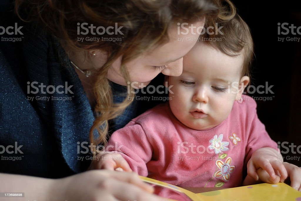 Storytime with baby stock photo
