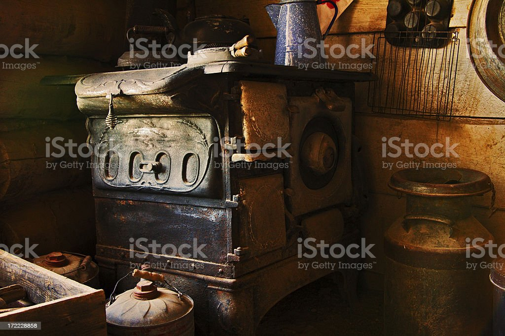 Stove and Kettle stock photo