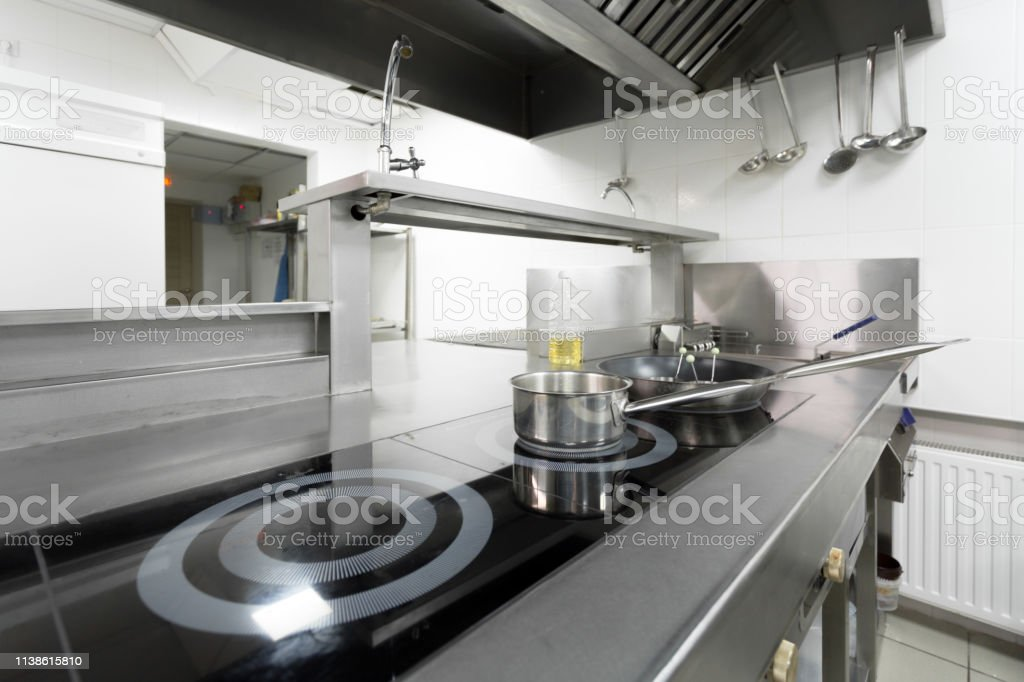 Stove Counter In A Modern Restaurant Kitchen Stock Photo Download Image Now Istock