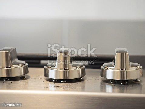 Stove Oven Temperature Dials Close-UP