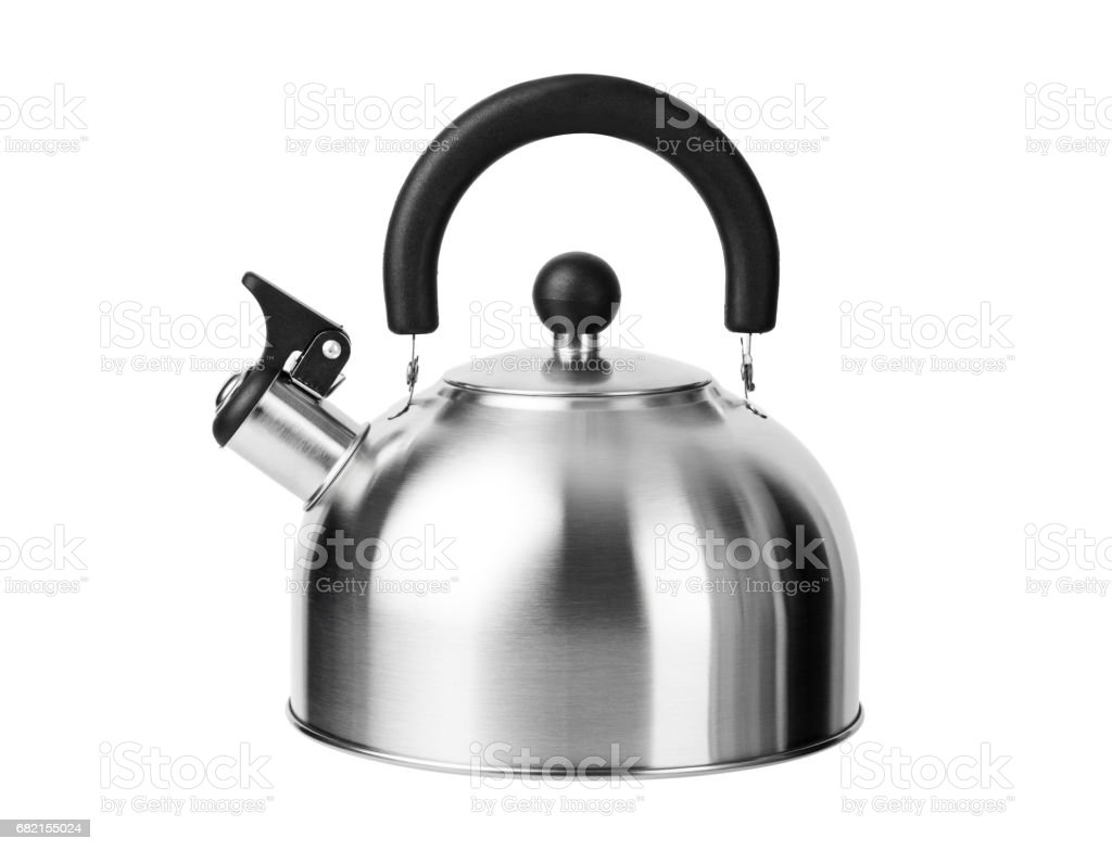 Stovetop whistling kettle stock photo