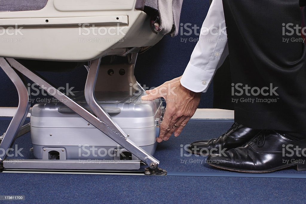 Stowing A Laptop Case stock photo