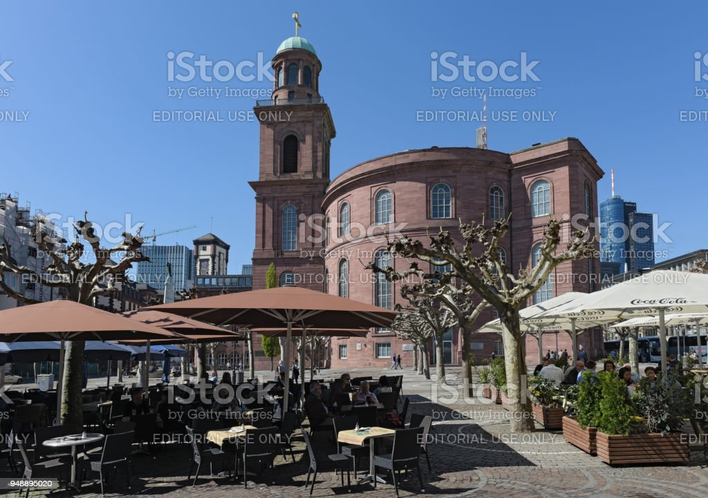 St.Paul church in Frankfurt am Main, Germany stock photo