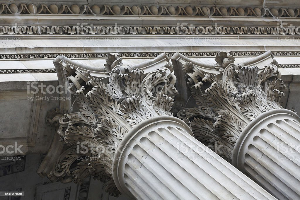 St.Paul's Cathedral detail royalty-free stock photo