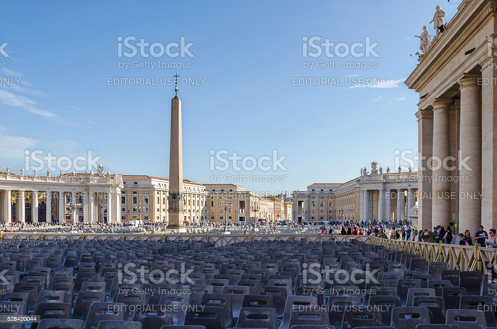 St.Peter's Square stock photo
