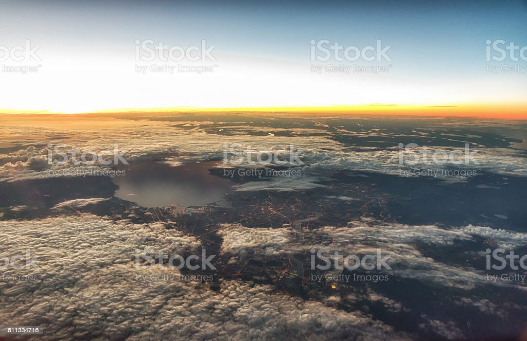 St.-Petersburg from height stock photo