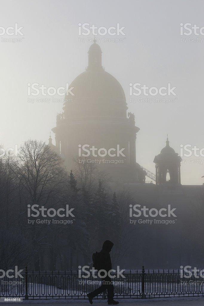 St.Petersburg, winter royalty-free stock photo