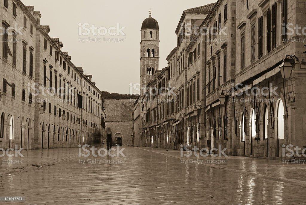 Stradun in Dubrovnik, Croatia stock photo