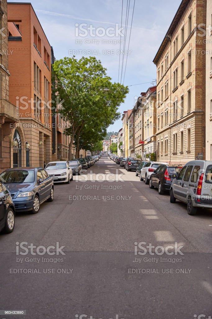 Straße in Stuttgart - Zbiór zdjęć royalty-free (Architektura)