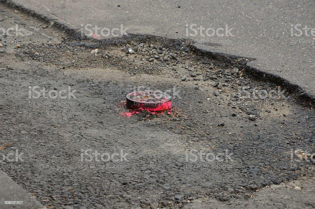 Straßenarbeiten stock photo