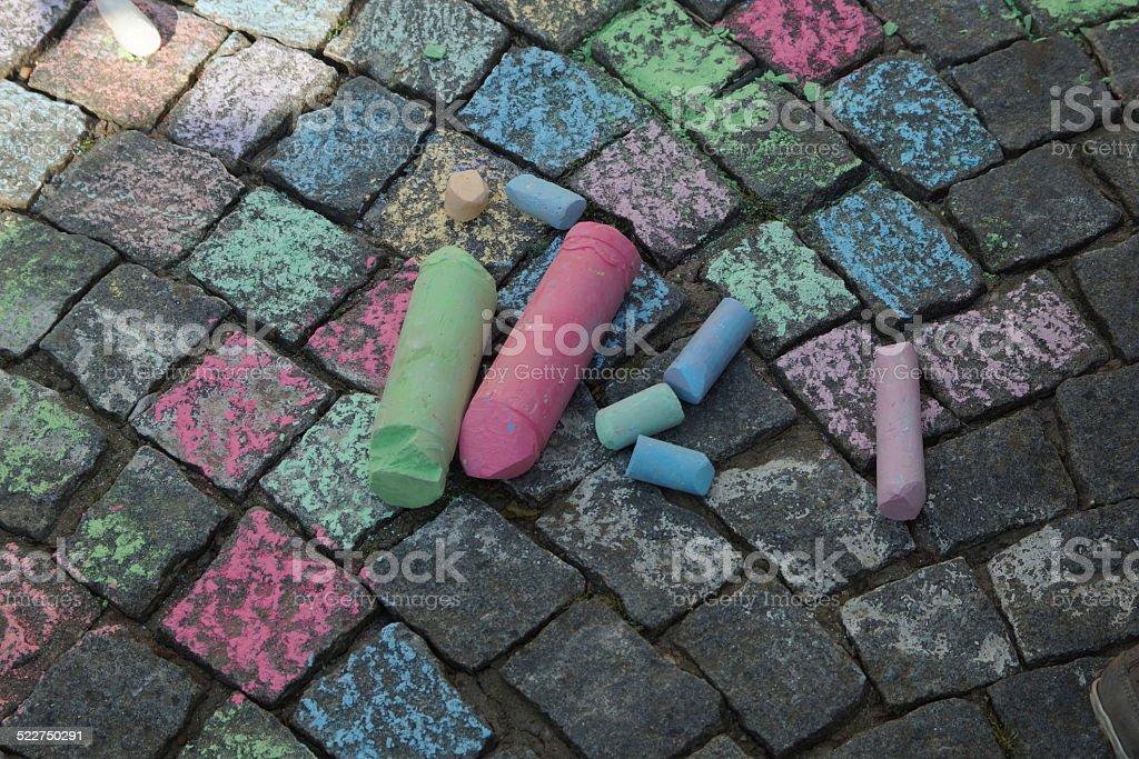 Straßenmalkreide stock photo