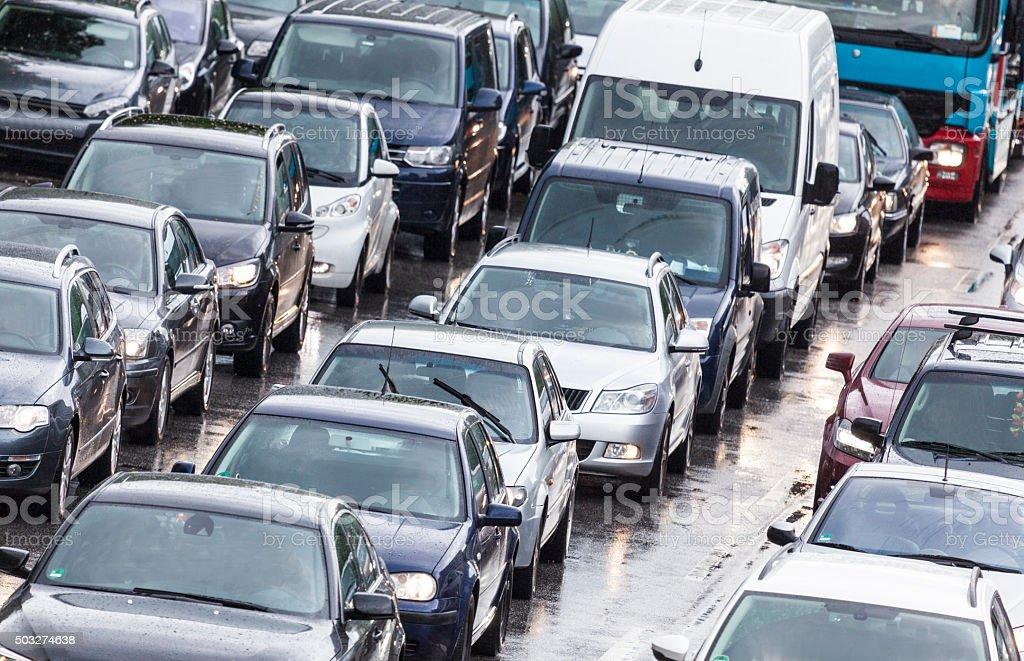 Straßenverkehr in Hamburg, Deutschland stock photo