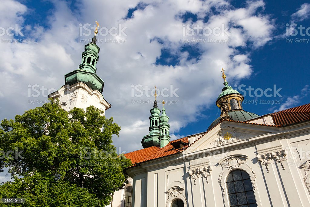 Strahov Monastery at sunset, Prague, Czech Republic royalty-free stock photo
