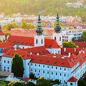 istock Strahov monastery at sunset, Prague, Czech Republic 901612584