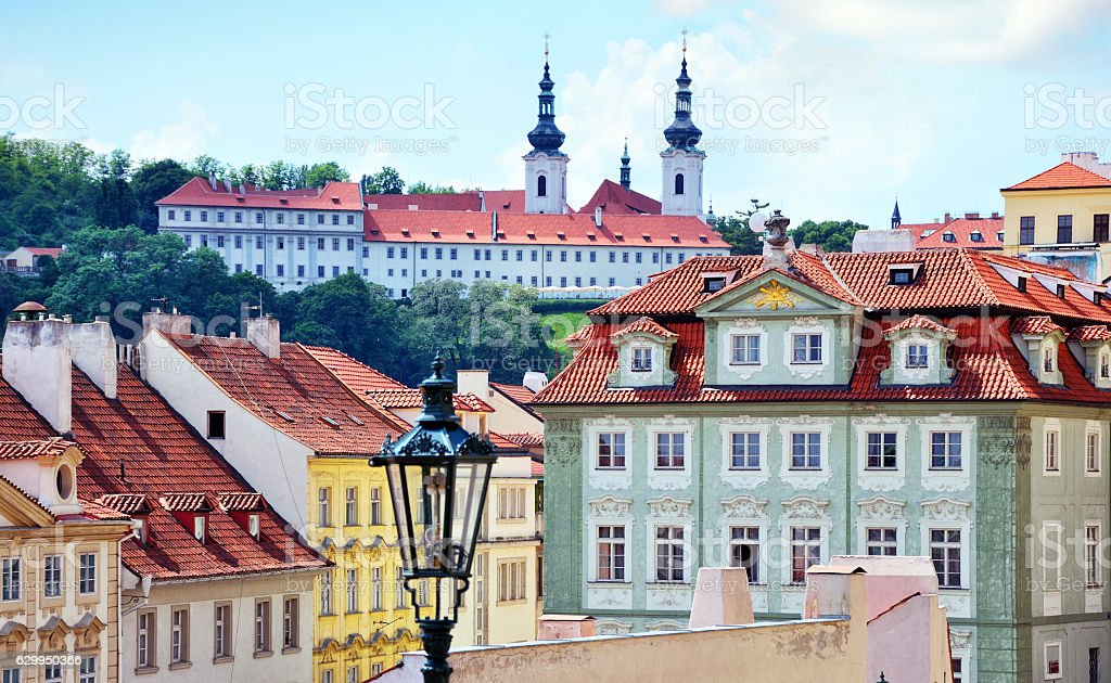 Strahov Monastery, Prague stock photo