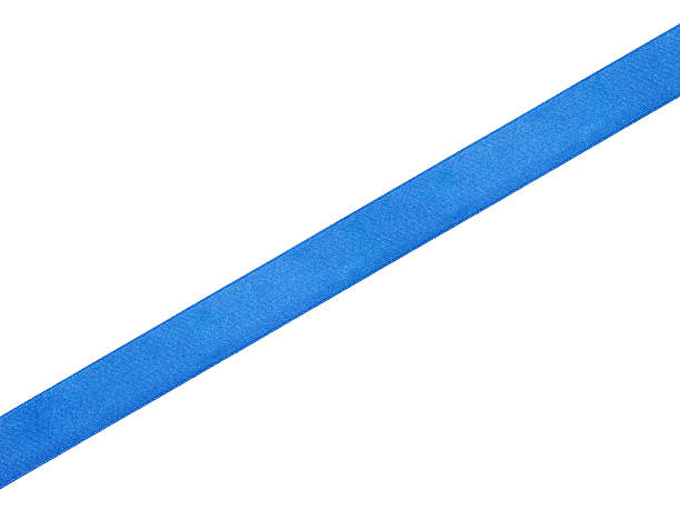 straight blue ribbon - straight stock photos and pictures