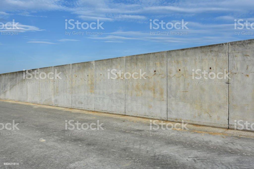 Grenze oder Gefängnis direkt Betonwand – Foto