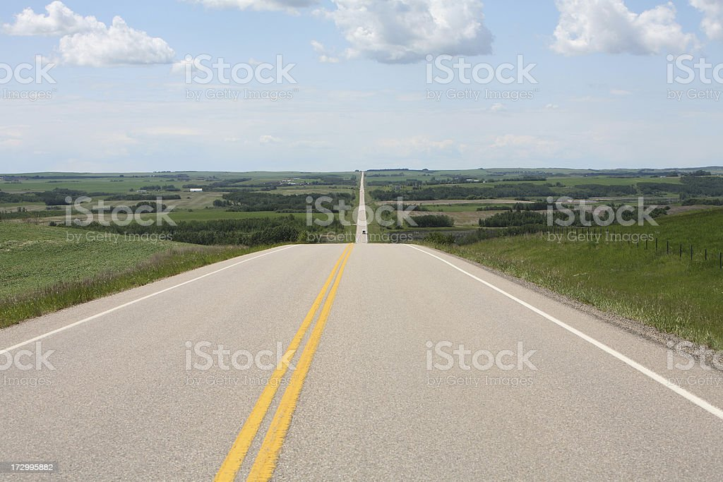 Straight Down The Highway To Countryside Infinity royalty-free stock photo