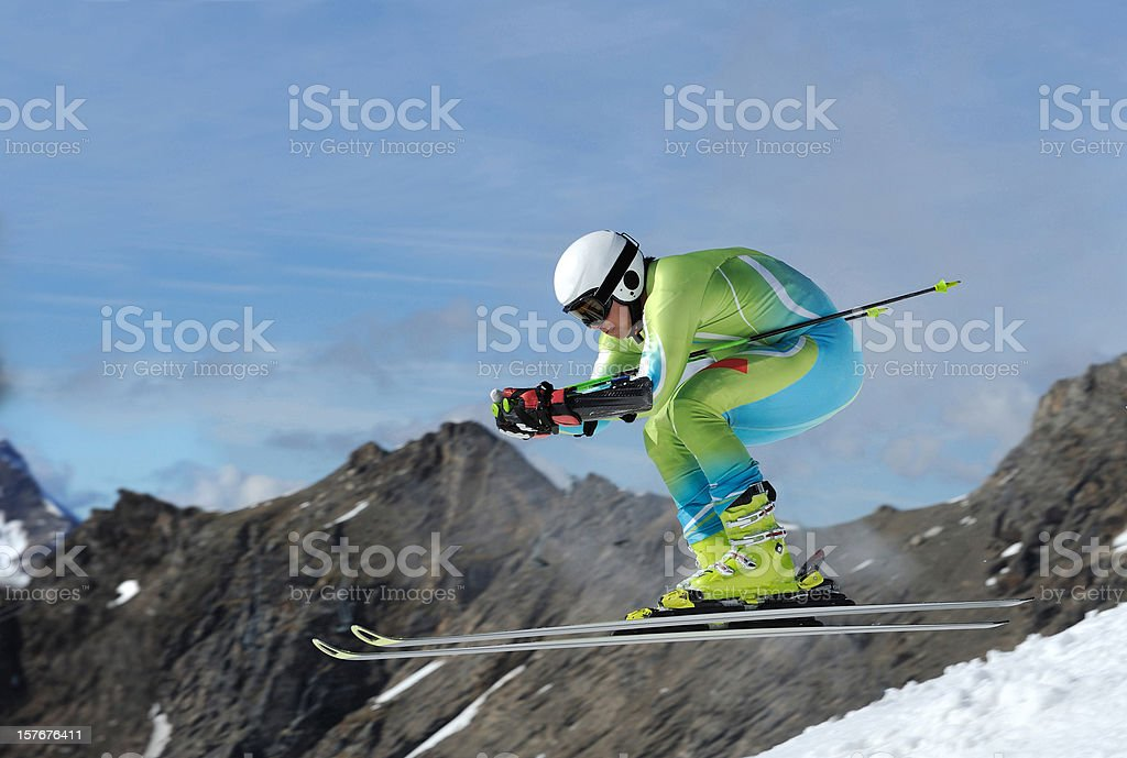 Straight downhill race royalty-free stock photo