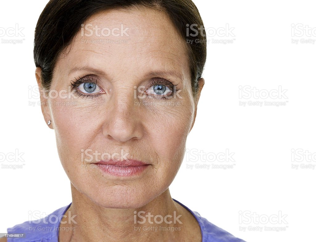 Straight faced woman royalty-free stock photo