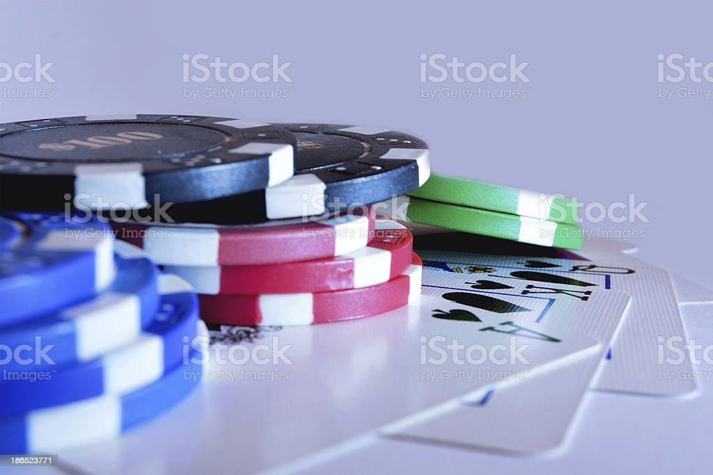 Straight Flush Winner royalty-free stock photo