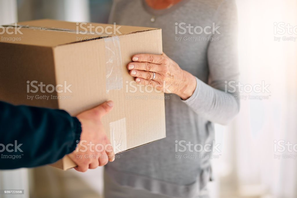 Straight from the warehouse, into your hands stock photo