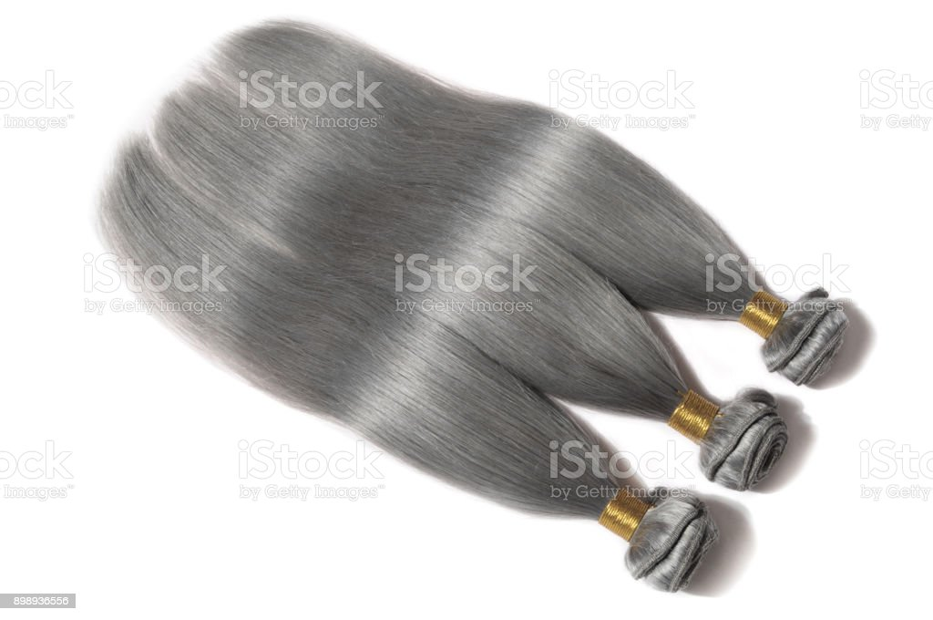 Straight Grey Ash Blonde Human Hair Weave Extension Bundles Stock