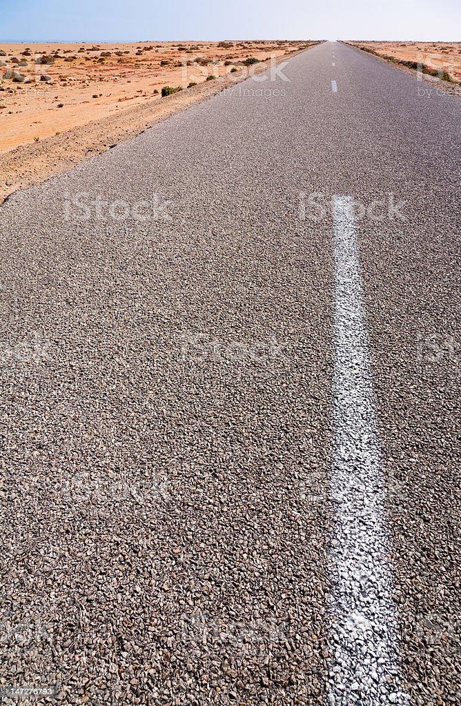 Straight Highway stock photo