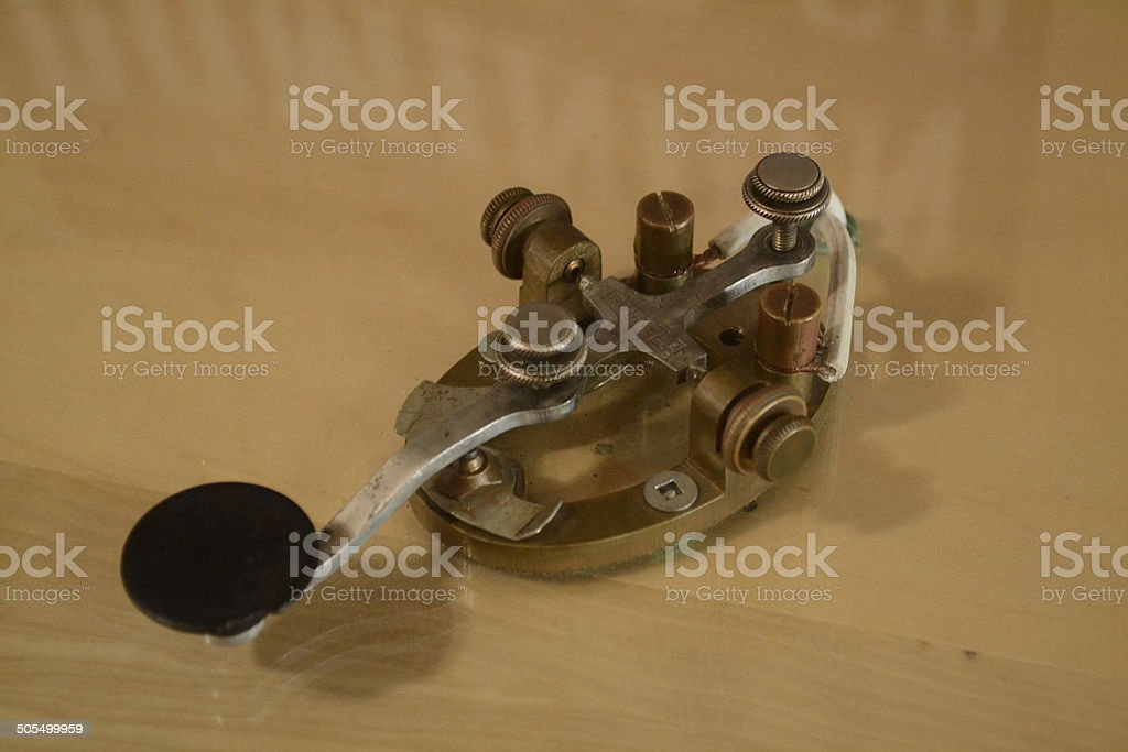 Straight Key - Morse Code stock photo