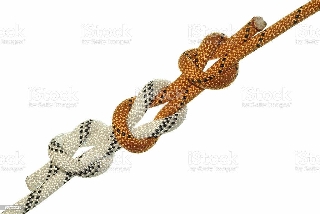 Straight knot royalty-free stock photo