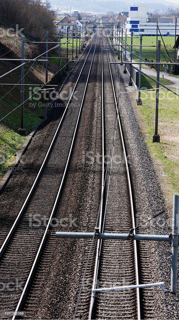 Straight line ahead stock photo