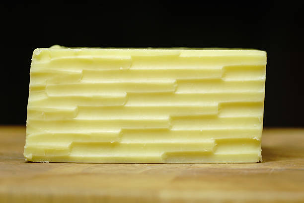 Straight on Cheddar Cheese stock photo