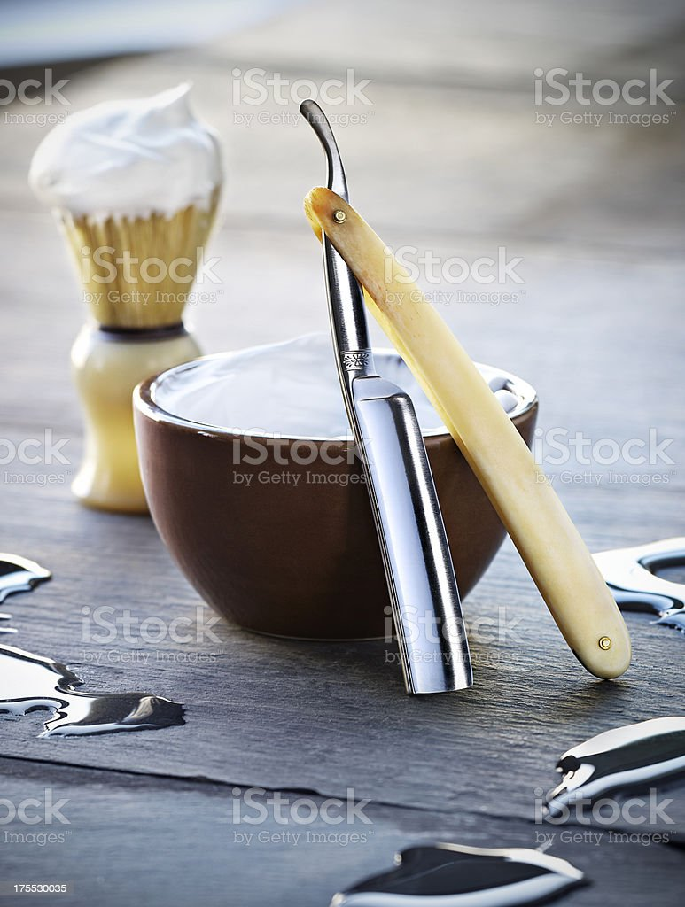 Straight Razor stock photo