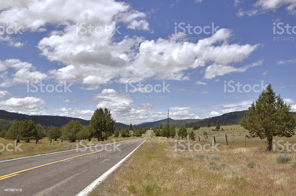 Straight Road in the Countryside royalty-free stock photo