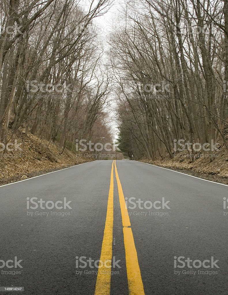 Straight road stock photo
