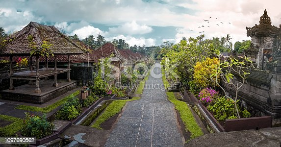 Penglipuran is a traditional balinese village at Bangli Regency with Bale Bengong for meeting (pavilion) and straight street.