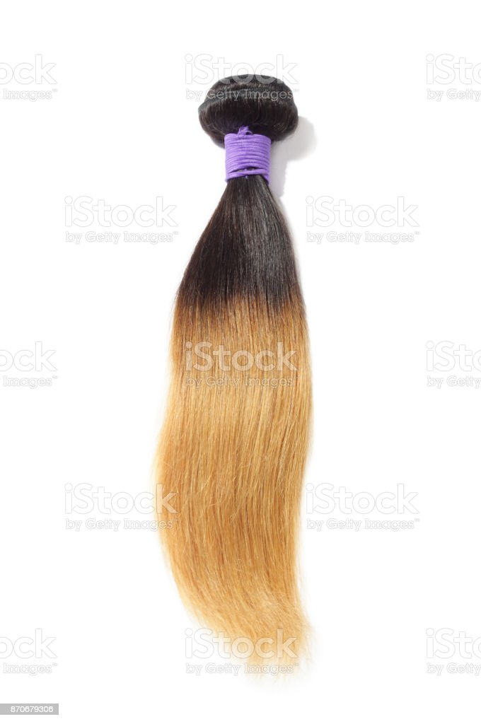 Straight Two Tone Ombre Black With Blonde Human Hair Weave Extension
