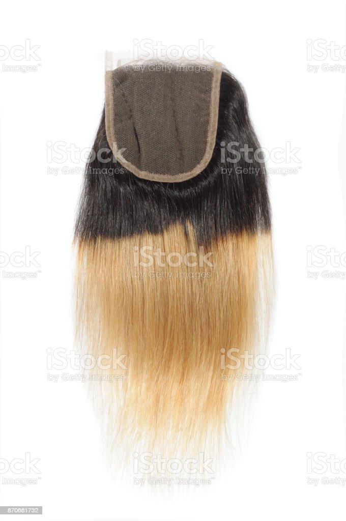 Straight Two Tone Ombre Black With Blonde Human Hair Weave Extension Bundles Stock Photo Download Image Now Istock