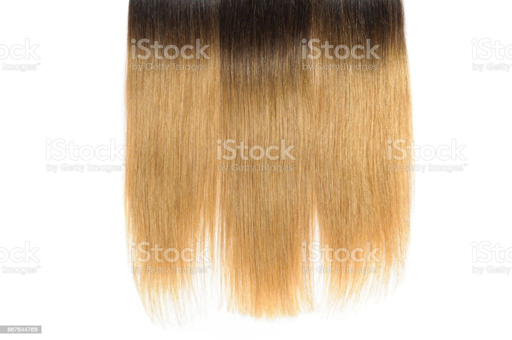 Straight Two Tone Ombre Black With Light Brown Human Hair Weave